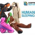 着たまま動ける寝袋「HUMANOID SLEEPINGBAG」