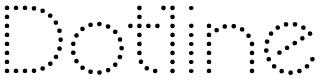 ドットで構成された「Dotline フォント」
