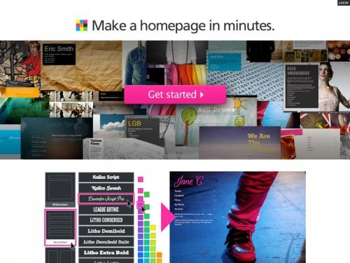 数分でホームページを作成できる「Flavors.me」