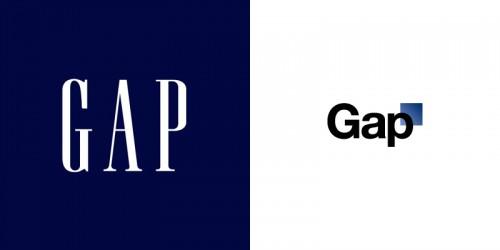 GAPのロゴが変わってました