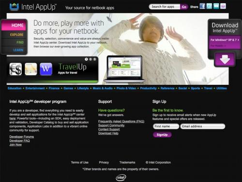 インテルのアプリ・ストア「AppUp」
