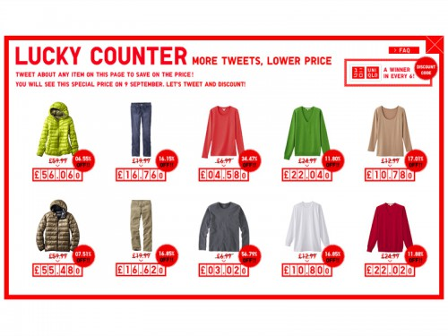 LUCKY COUNTER - UNIQLO