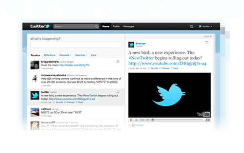 Twitterの新しいデザイン